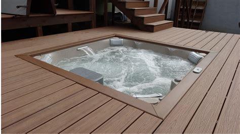 Jacuzzi Jlx Hot Tub Deck Install  Aqua Paradise San