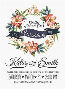 vintage flower wedding invitation background vector With vintage flowers wedding invitations vector