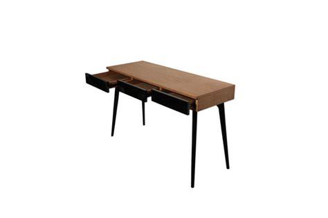 console bureau console bureau design natura en bois noir et teck