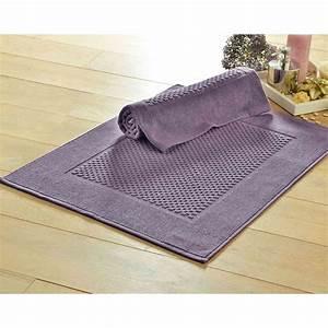 becquet tapis de bain coton jeu de reliefs 800g m2 mauve With becquet tapis de bain
