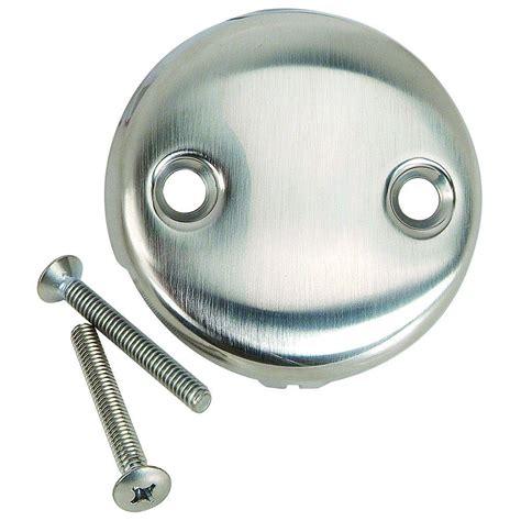 bathtub overflow plate without screws brasscraft overflow plate with screws two with