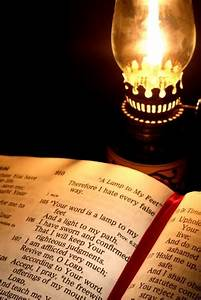 titus two friends the light along your path With lamp and light bible