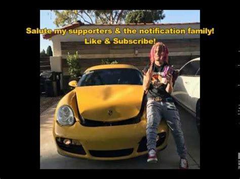 yellow porsche lil pump lil pump flexes crashes rented porche youtube