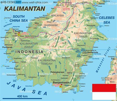 map  kalimantan island  indonesia welt atlasde
