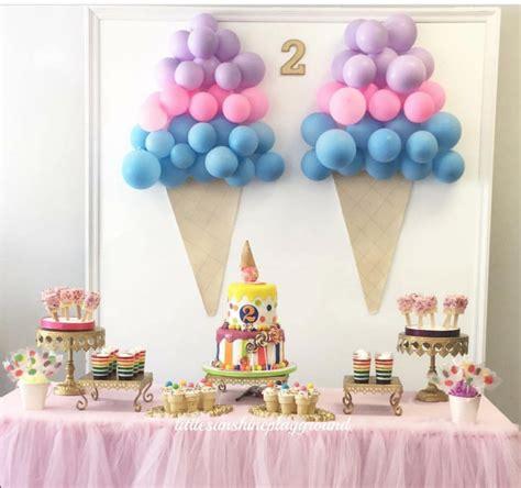 ice cream themed birthday party diy decor ideas