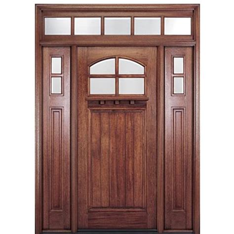 "Mai Doors Htc40012t 36""x80"" 4lite Mahogany Craftsman"