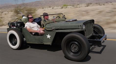 slammed willys jeep rat rod jeep death wish trip roadkill episode 15