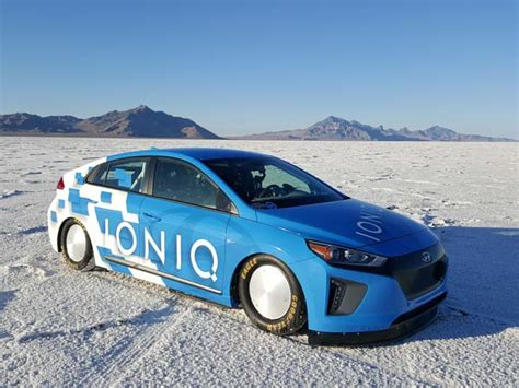 Hyundai Ioniq Hybrid Breaks Land Speed Record Drivespark