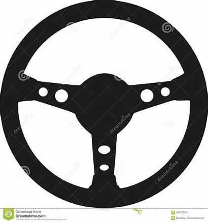 Steering Wheel Racing Vector Illustration Cart