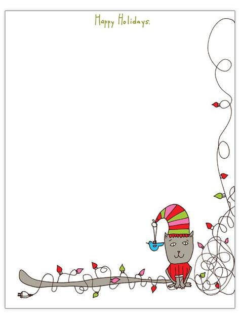 christmas letter template free christmas letter templates gardens bulletin board borders and happy