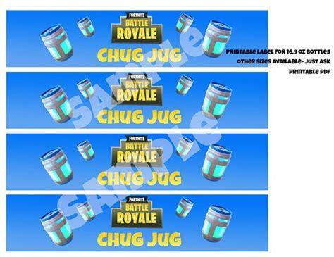 chug jug printable water bottle labels   oz bottles