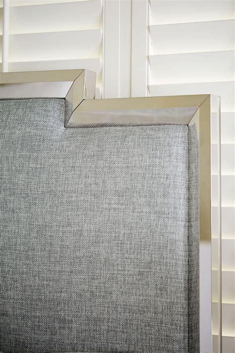 metal upholstered panel bed bernhardt
