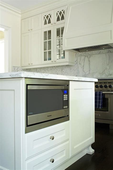 microwave in island cabinet kitchen island microwave nook transitional kitchen