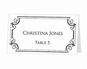 instant download print at home place cards template by With table placement cards templates