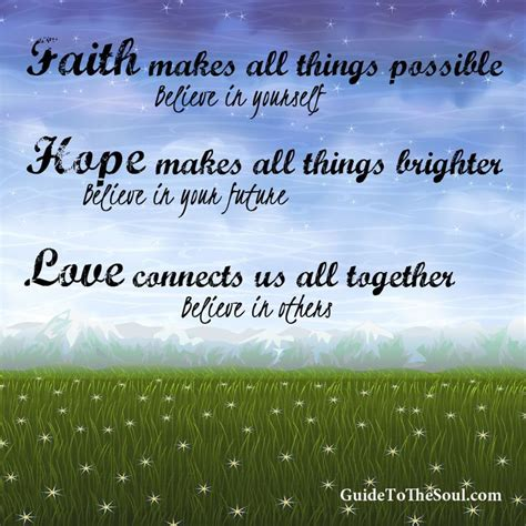 Quotes About Faith Hope Love