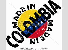 Vector label made in colombia vectors Search Clip Art