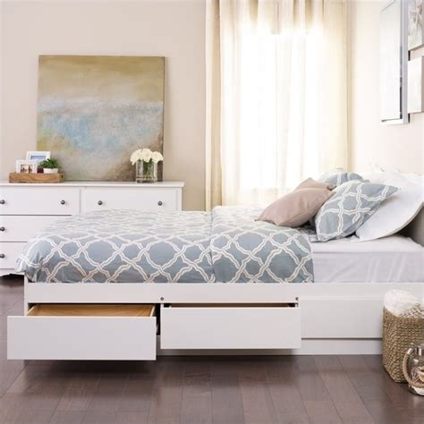 storage bed white white platform storage bed wbq 6200 3k