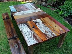 Make Outdoor Wood Table by Reclaimed Wood Rustic Dining Table The Alternative Consumer