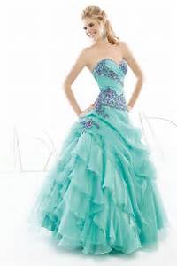 Prom Dresses Exquisite Lace Light Turqoise A Line Straps