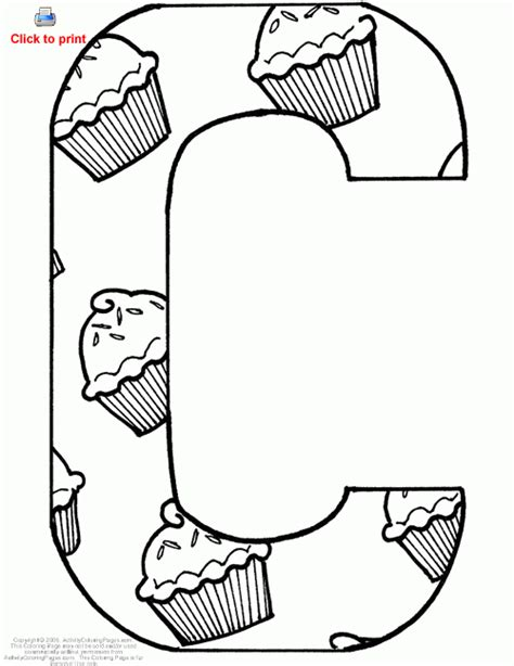 C Coloring Pages Printable Alphabet Coloring Pages C 5 Letter C Coloring