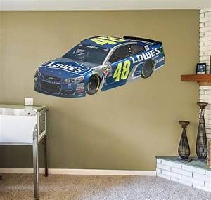 nascar jimmie johnson 2016 48 lowe39s realbig car wall With kitchen cabinets lowes with navy car stickers