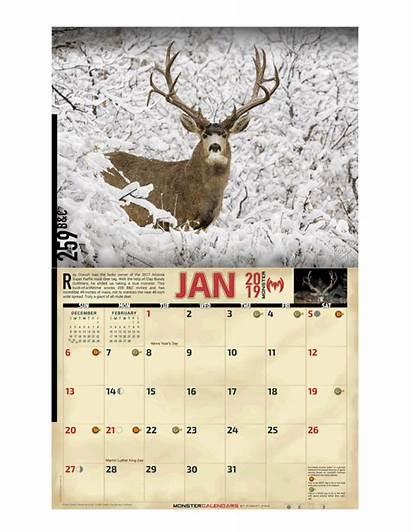 Calendar Deer Monster Mule Calendars Hunting Huge