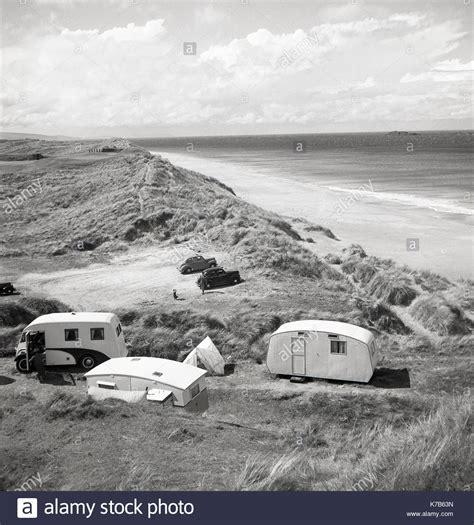 Caravan Uk Beach Stock Photos & Caravan Uk Beach Stock