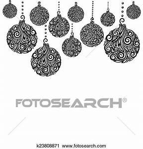 Weihnachtsmotive Schwarz Weiß : clipart sch n monochrom schwarz wei weihnachten hintergrund mit weihnachten kugeln ~ Buech-reservation.com Haus und Dekorationen