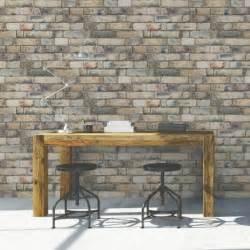 Mettre Du Papier Peint Sans Colle by Papier Peint Intiss 233 Brique Anglaise Jaune Leroy Merlin