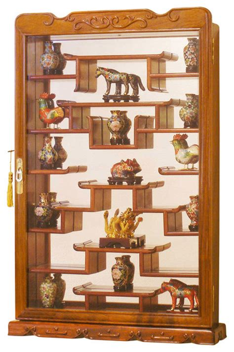 decorative wall curio cabinets rosewood wall curio display cabinet asian home decor