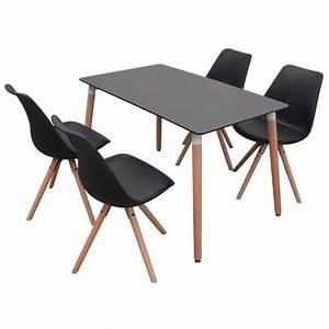 Amazon Stühle Günstig : vidaxl 5 teilige essgruppe tisch st hle schwarz g nstig ~ Sanjose-hotels-ca.com Haus und Dekorationen