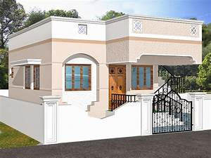 INDIAN HOMES - HOUSE PLANS - HOUSE DESIGNS - 775 SQ FT