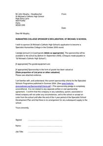 letter of declaration format best template collection