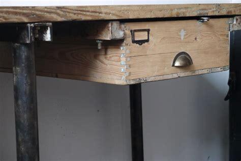 bureau industriel metal et bois bureau industriel poste de travail metal et bois