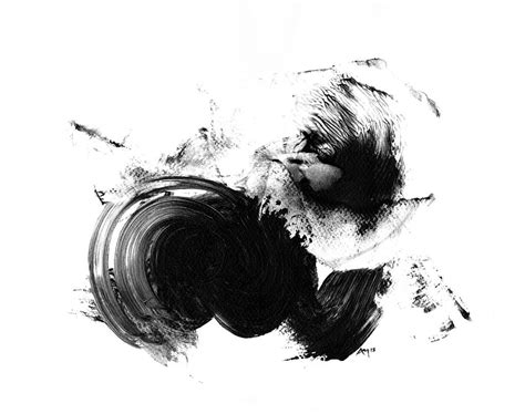 Abstract Black And White Artwork by Abstract Print Black And White By Paul Maguire