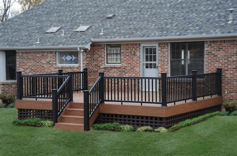 Unique Deck Skirting Ideas by Timbertech With Custon Lattice Skirting More For The