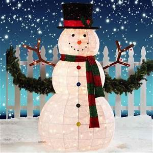 Snowman outdoor lights 12 ways to make your Christmas