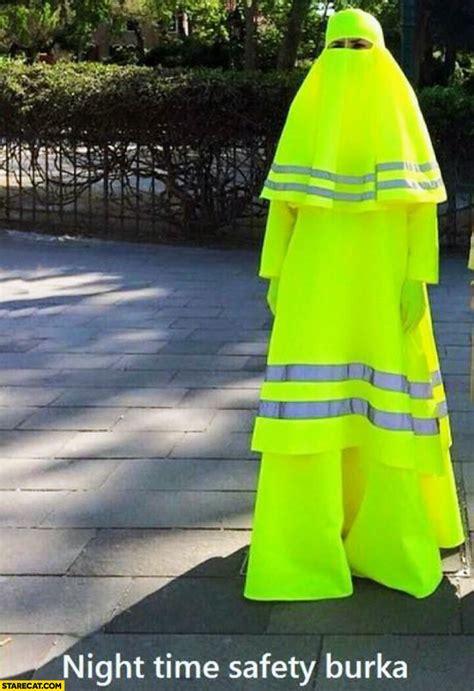 night time safety burka yellow reflective starecatcom
