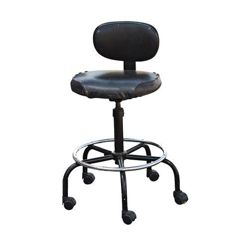 vintage black cramer adjustable drafting stool ebay