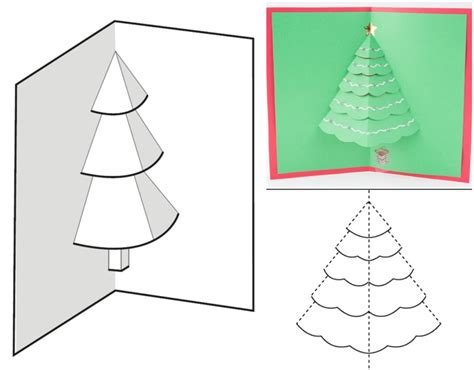 Möchten Sie Eine 3d Weihnachtskarte Mit Tannenbaum Basteln?