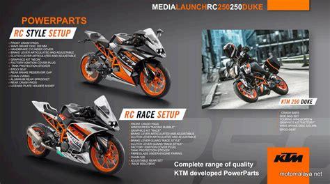 Modification Ktm Rc 250 by 2 Ktm Rc250 Duke Powerparts Motomalaya