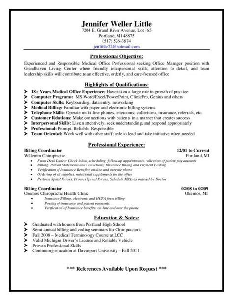 billing resume exles description for