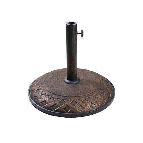 shop company bronze concrete umbrella base at