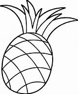 Pineapple Coloring Colouring Clipart Pages Cartoon Pinapple Pineapples Drawing Fun Apple Pine Awesome Wecoloringpage Fruits sketch template