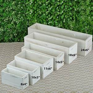 18x6, Inches, Natural, Wood, Rustic, Rectangular, Planter, Boxes, Party, Home, Decorations