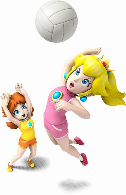 Peach Volleyball Mario Daisy Sports Playing Mix