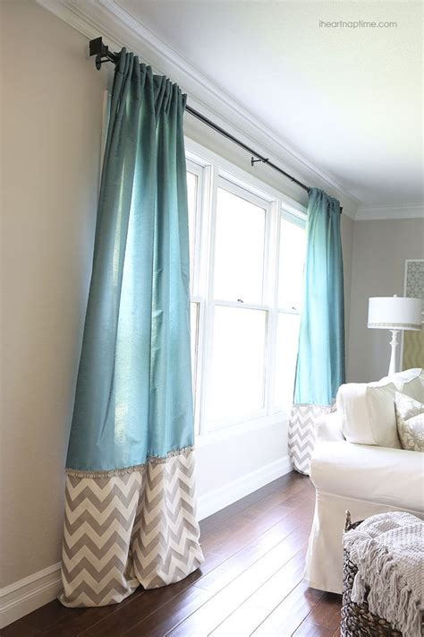 diy curtains diy back tab curtains with ruffled trim home decor pinterest