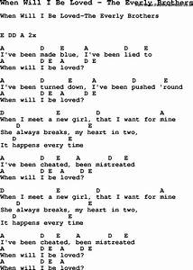 4 String Banjo Chord Chart Song When Will I Be Loved By The Everly Brothers With