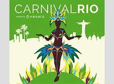 Rio carnival dancer Vector download