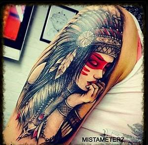 Female Indian with head dress | Tattoos & Piercings ...